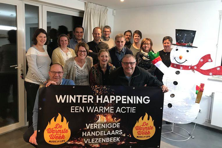De Verenigde Handelaars van Vlezenbeek organiseren voor de derde keer een Winterhappening voor de Warmste Week van Studio Brussel.