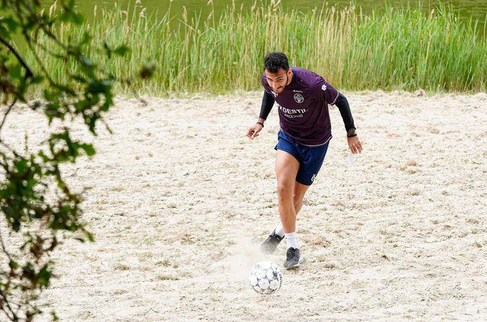 Vangelis Pavlidis speelde gisteren voetgolf als teambuildingactiviteit.