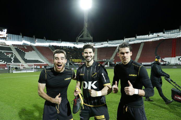 De Spanjaarden van NAC: Roger Riera, Nacho Monsalve en Javier Noblejas.