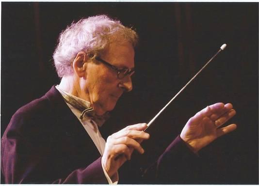 Guus de Waal sr. als dirigent.