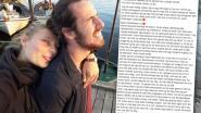 """""""Een deel van me stierf maandagmorgen"""": ex van vermoorde Deense toeriste zet hartverscheurende post op Facebook"""