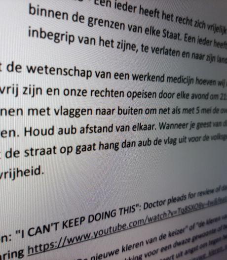Anonieme brief verspreid tegen avondklok in Zutphen: 'Ga met vlaggen de straat op'