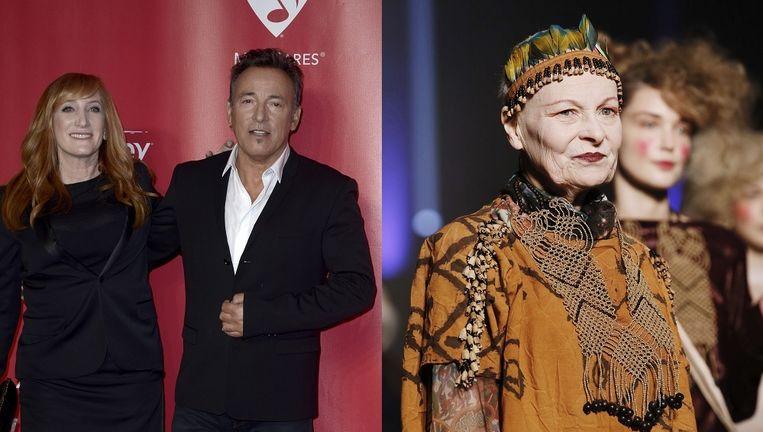 Bruce Springsteen en Vivienne Westwood. Beeld null