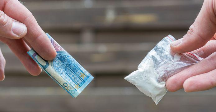 Drugsverkoop op straat, foto ter illustratie.