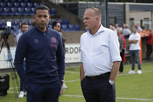 Henk van Stee en Sparta-trainer Henk Fraser.