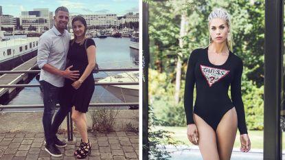 SHOWBITS. Toby Alderweireld en vrouw showen voor het eerst babybuikje, Jess Donckers strak in badpak