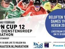 Marathontoppers op het ijs in Enschede