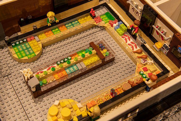 De versafdeling van Huis Vanassche, met worstjes, kaas, ham,...