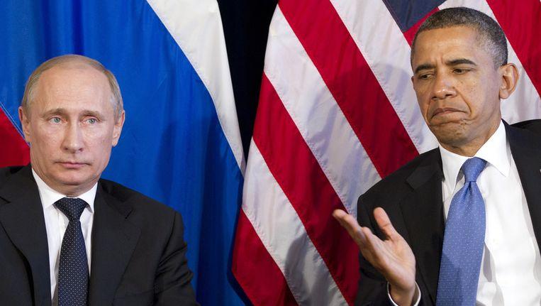 Poetin en Obama in juni vorig jaar. Beeld ap