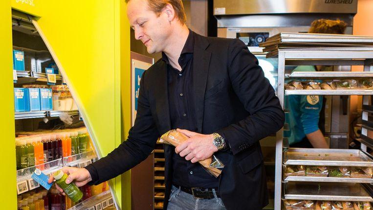 Jan-Willem Dockheer van AH to Go: 'We willen niet dat een klant zich telkens moet identificeren als hij de winkel in gaat' Beeld Mats van Soolingen