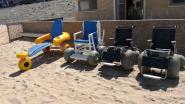Strandrolstoelen én - eindelijk - ook weer toegankelijk toilet aan het strand