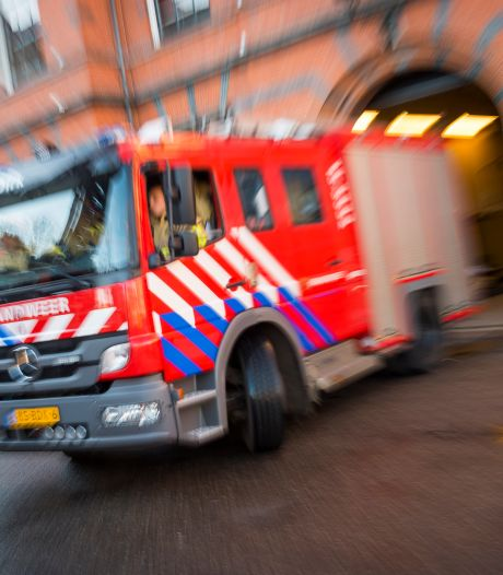 Grote brand in Scheemda legt schuur in as