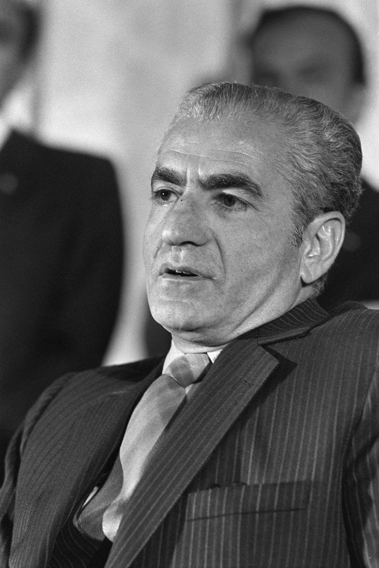 Mohammad Reza Pahlavi, de laatste sjah van Iran. Nadat hij in 1979 was verdreven, stierf hij een jaar later. Beeld AFP