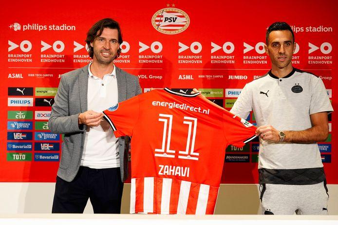 John de Jong of PSV, Eran Zahavi of PSV during Contract signing Eran Zahavi NETHERLANDS ONLY COPYRIGHT SOCCRATES/BSR