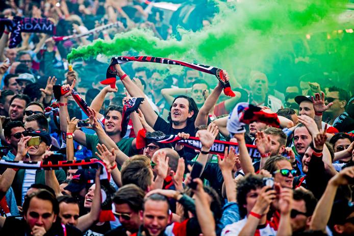 De Binnenrotte is wel vaker een plek voor feesten en partijen. Zoals in 2017, toen Feyenoord het landskampioenschap pakte.