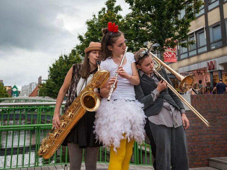 Ook jong talent treedt op tijdens het Grachtenfestival. Beeld Dirk Brand