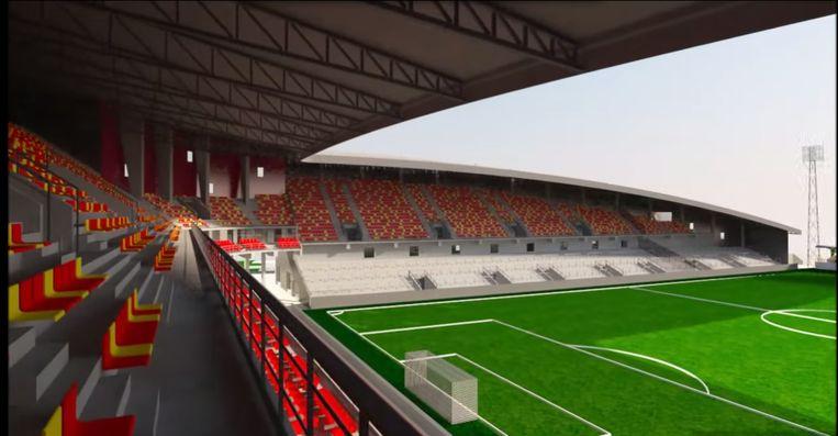 Zo zal het nieuwe stadion van KV Mechelen eruit zien.