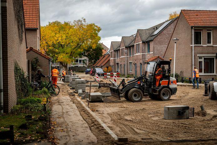 Helmond ED2020-7031 De Annawijk in Helmond wordt gerenoveerd.
