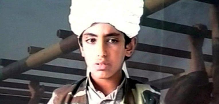 Hamza Bin Laden. Van wanneer dit beeld dateert, weet niemand