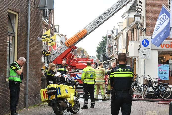Bij een brand aan de Utrechtseweg in IJsselstein is een hennepkwekerij aangetroffen.