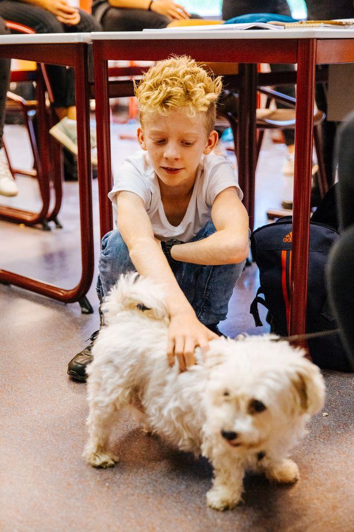 Noah Heesbeen doet mee aan het project 'Slimme dieren'.