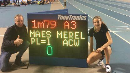 """Merel Maes verbetert het Belgisch record hoogspringen bij de cadetten tot 1m79: """"Nu graag virtueel over mezelf springen"""""""