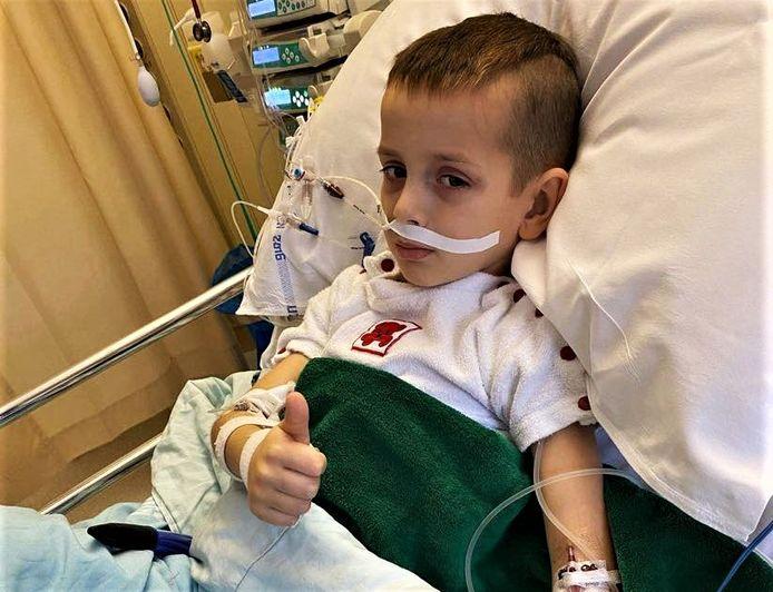 Tristan (6) herstelt momenteel op de intensieve afdeling van het UZ Leuven na zijn openhartoperatie van dinsdag.