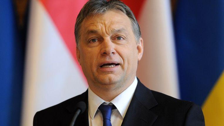 De Hongaarse premier Viktor Orbán Beeld afp