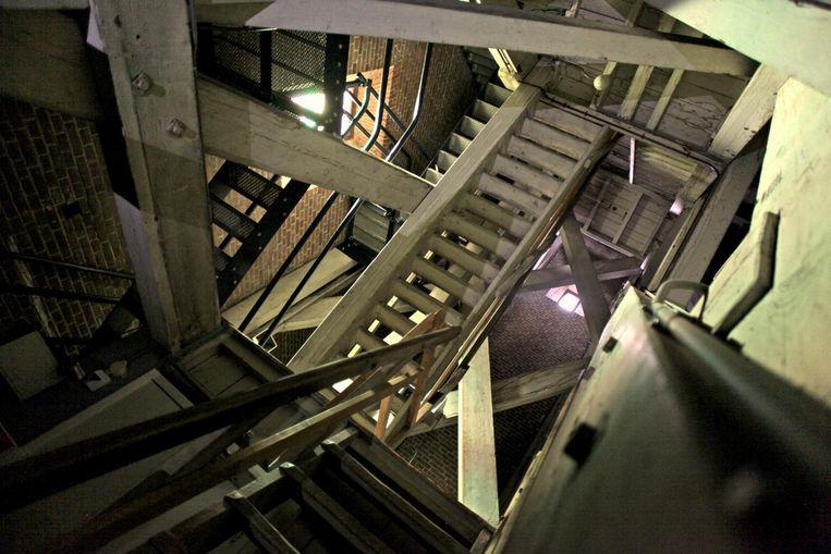 Het trapwerk in de toren. Beeld Sherlocked