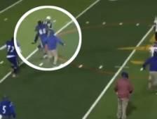 Un joueur de football américain s'en prend à l'arbitre après avoir été expulsé