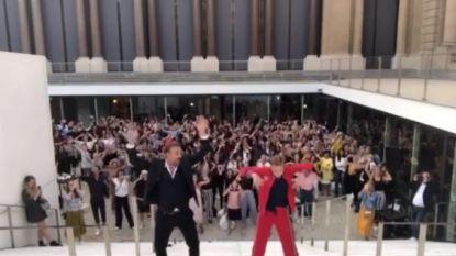 VIDEO. Tom Waes en Astrid Coppens laten zich verleiden tot een playbackdansje