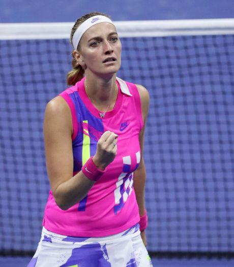 Kvitova komt korte inzinking te boven en slaat Rogers naar huis
