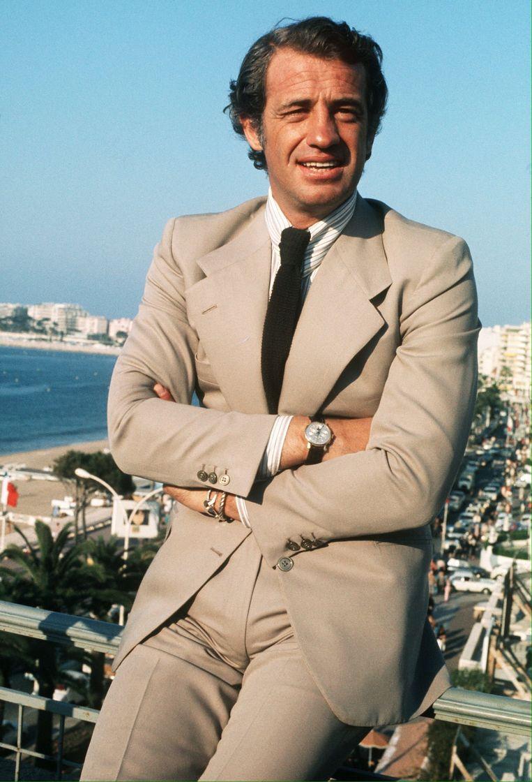 Jean-Paul Belmondo tijdens het Cannes Film Festival, 1974 Beeld EPA