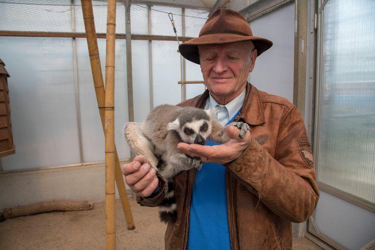 Harry Malter vorig jaar met één van zijn vele maki's.