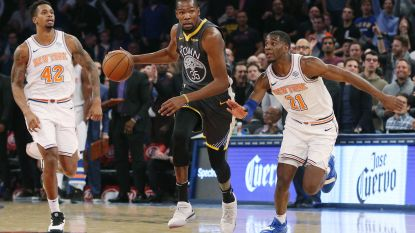 Durant dirigeert Golden State voorbij New York, Houston slikt opnieuw nederlaag