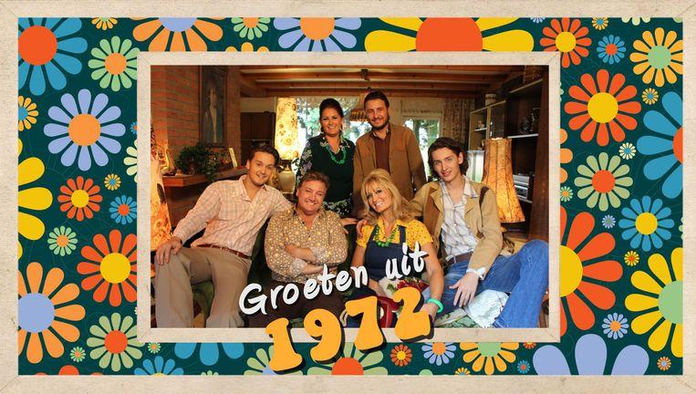 Natasja en René Froger leven met hun kinderen een weekend als in 1972 Beeld Fabiola/RTL