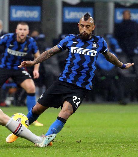 Inter-middenvelder Vidal mist beslissend duel door spierblessure