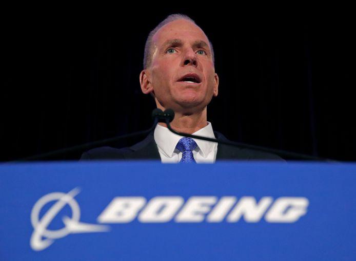 Boeing-CEO Dennis Muilenburg (archieffoto).