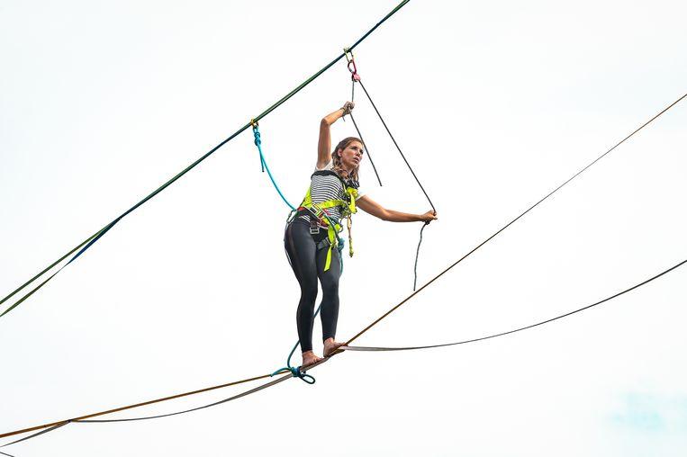 Balanceren op een hoogte van 10 meter was een opwarmertje.