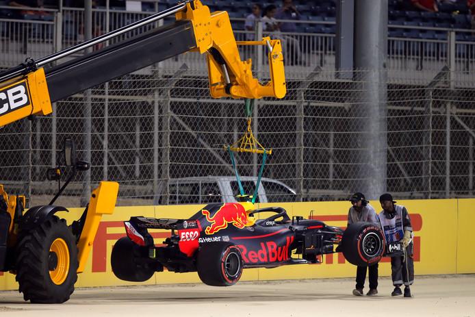De bolide van Max Verstappen in 2018.