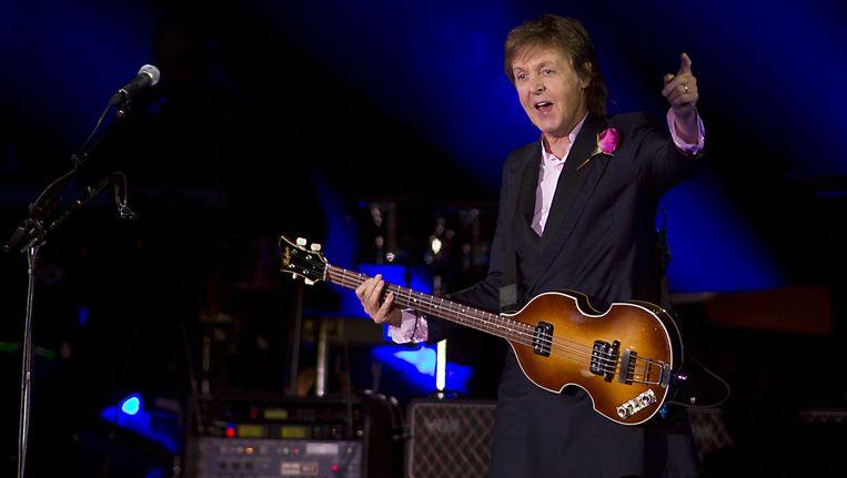 Paul McCartney tijdens zijn optreden op Pinkpop. Beeld anp