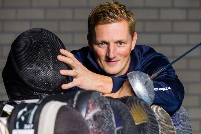 """Schermer Bas Verwijlen uit Oss: ,,Het plan was om na de Olympische Spelen even wat gas terug te nemen om nog meer van het vaderschap te kunnen genieten. Dat liep even anders."""""""