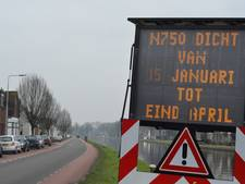 N750 tussen Vriezenveen en Vroomshoop maandenlang dicht