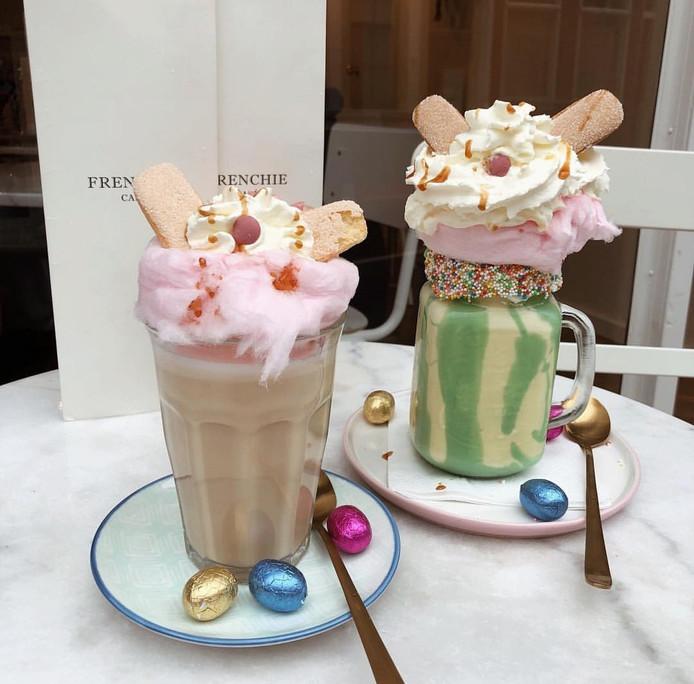 Freakshakes van Frenchie Café. De zaak wil in juli open in de Orthenstraat