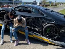 """Ils crashent leur Lamborghini flambant neuve: """"Cela ne s'est pas passé comme prévu"""""""
