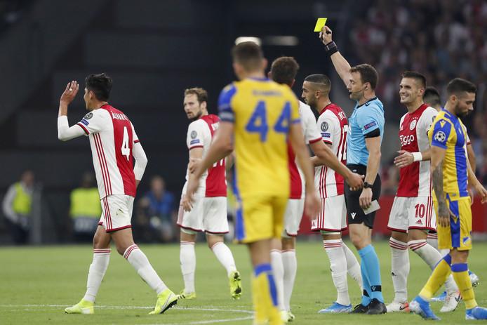 Ajax in de kwalificatiewedstrijd tegen APOEL Nicosia.