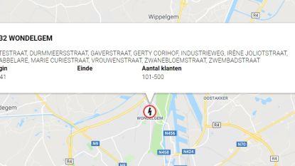 500 gezinnen getroffen door stroompanne in Wondelgem