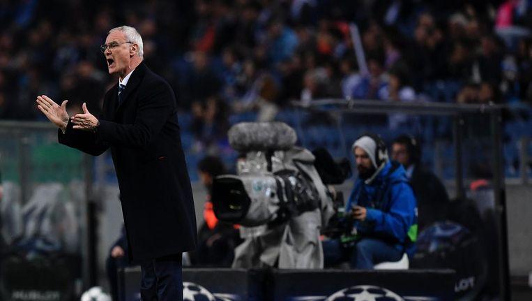 Claudio Ranieri tijdens de UEFA Champions League 2016 Beeld null