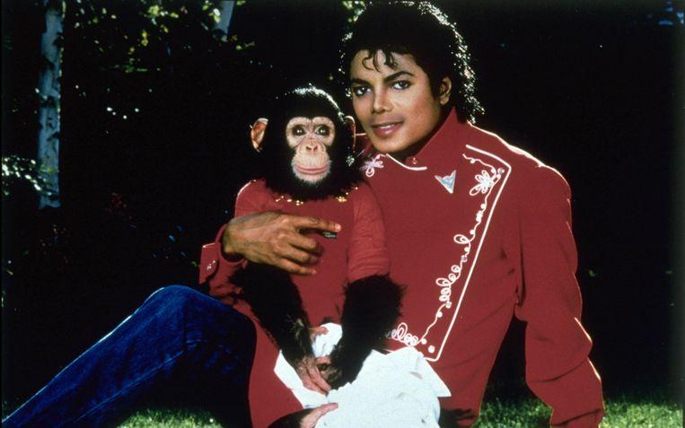 Jackson met aap Bubbles