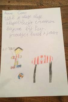 Verdrietige superfan Luuk (7) ontroert met brief aan Cocu: 'Wil je alsjeblieft blijven?'